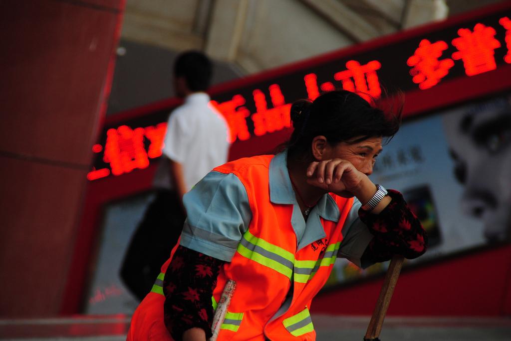 Working woman in Xi'an, China