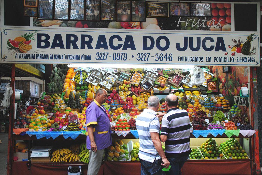 Fruit at a fruit seller in São Paulo, Brazil