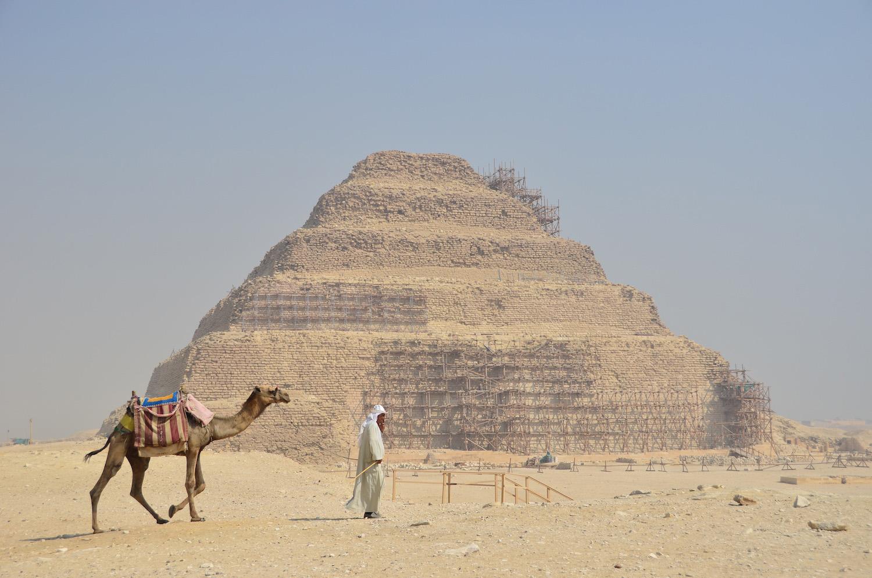 Step pyramid in Saqqara, Egypt