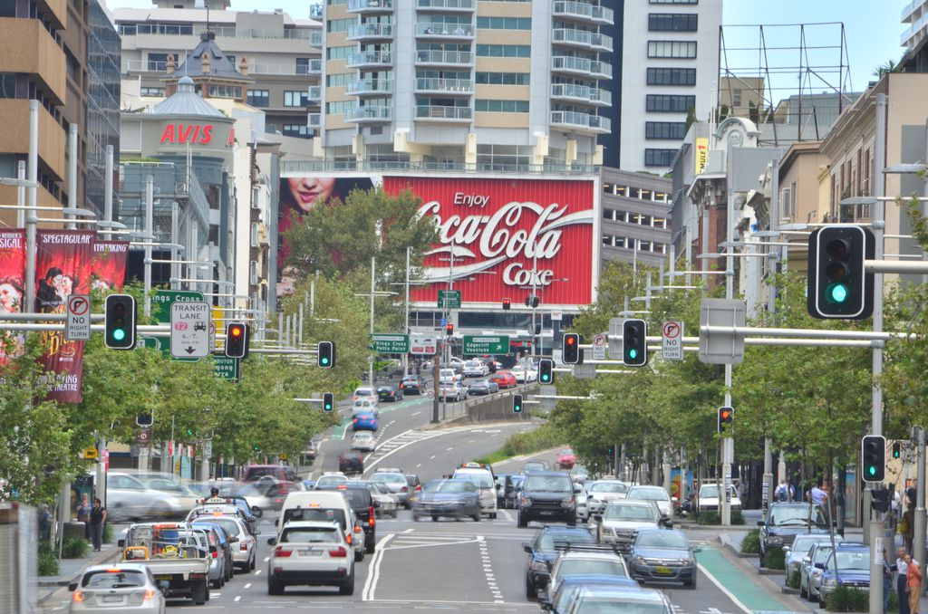 Coke sign in Sydney, Australia