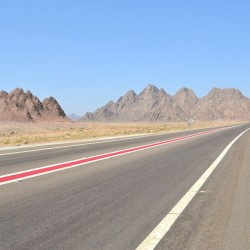 Open road in Sharm el Shiekh, Egypt