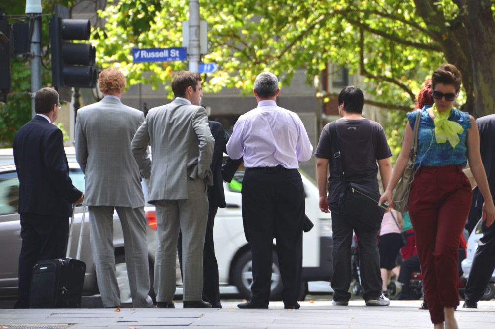Businesspeople in Melbourne