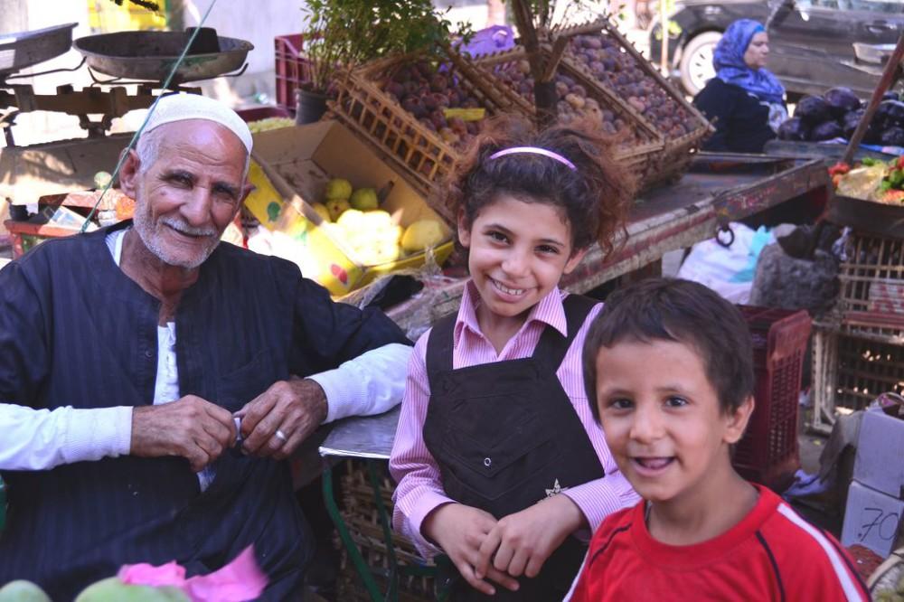 Delightful family in Cairo, Egypt