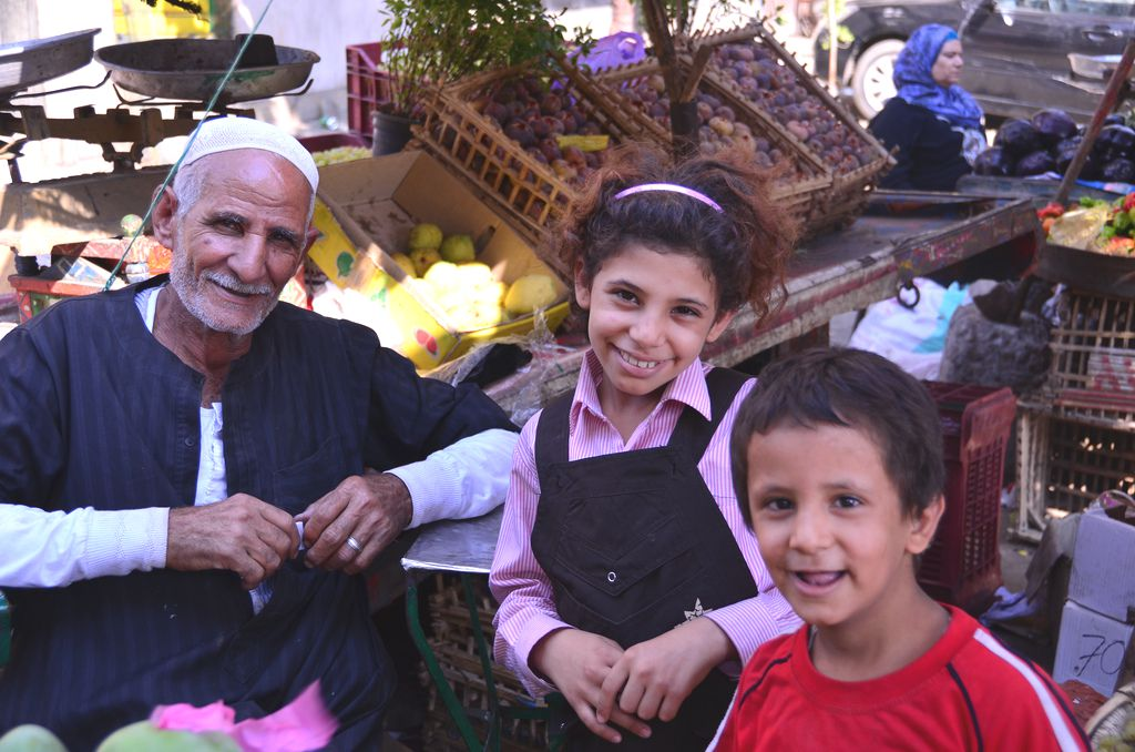 Smiling Family in Cairo, Egypt