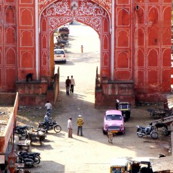 Pink City Walls in Jaipur India