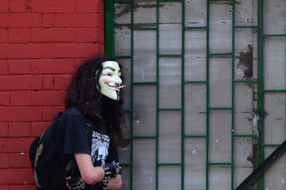 Anonymous in Bogotá, Colombia