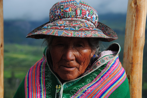 Inca Woman in Perú