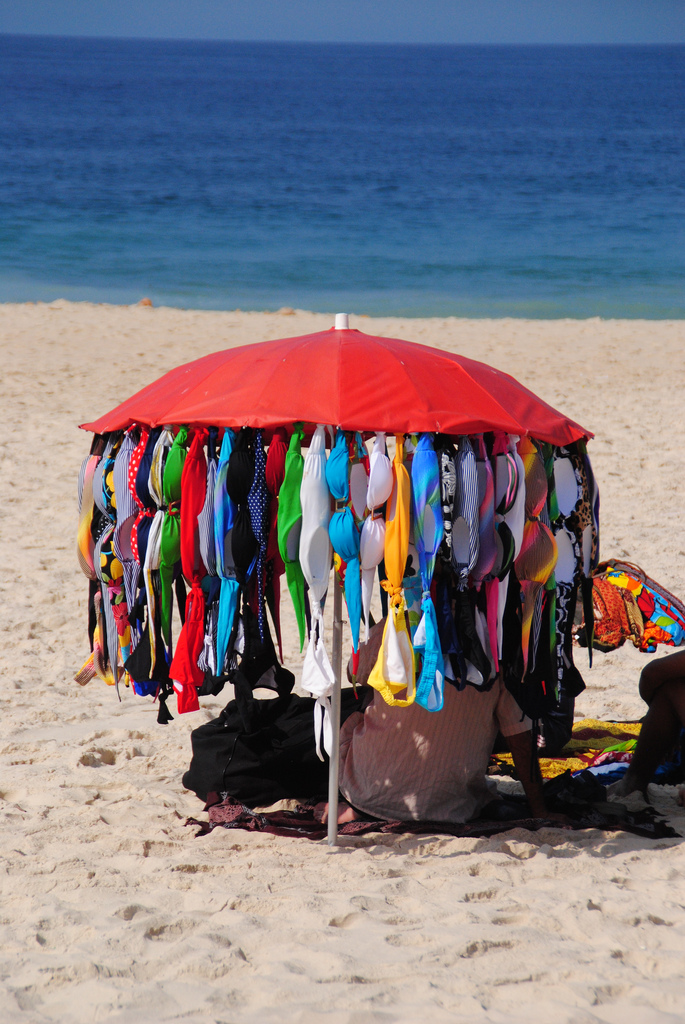 Beach vendor in Rio