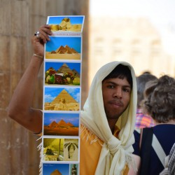 Boy Selling Postcards in Saqqara Egypt