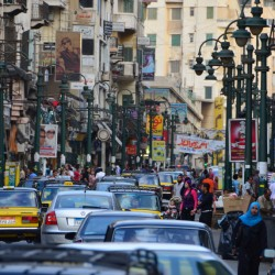 Busy Street in Alexandria Egypt