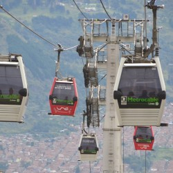 Cable Cars in Medellin Colombia