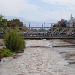 Dirty River in Santiago Chile