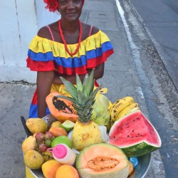Fruit Seller in Cartagena Colombia