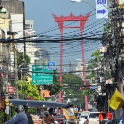 Giant Swing in Bangkok Traffic