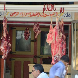 Hanging Meat in Cairo Egypt