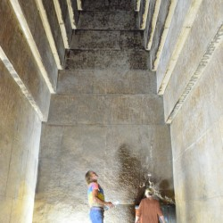 Inside Red Pyramid in Dashur Egypt