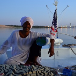 Man on Felucca in Egypt