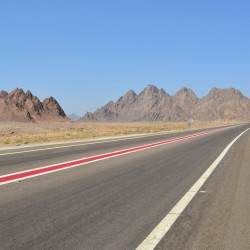 Road in Sinai Peninsula Egypt