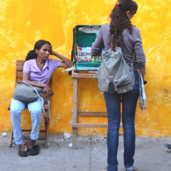Two Women in Cartagena Colombia