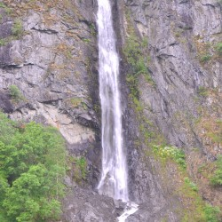 Waterfall in Norway Fjords
