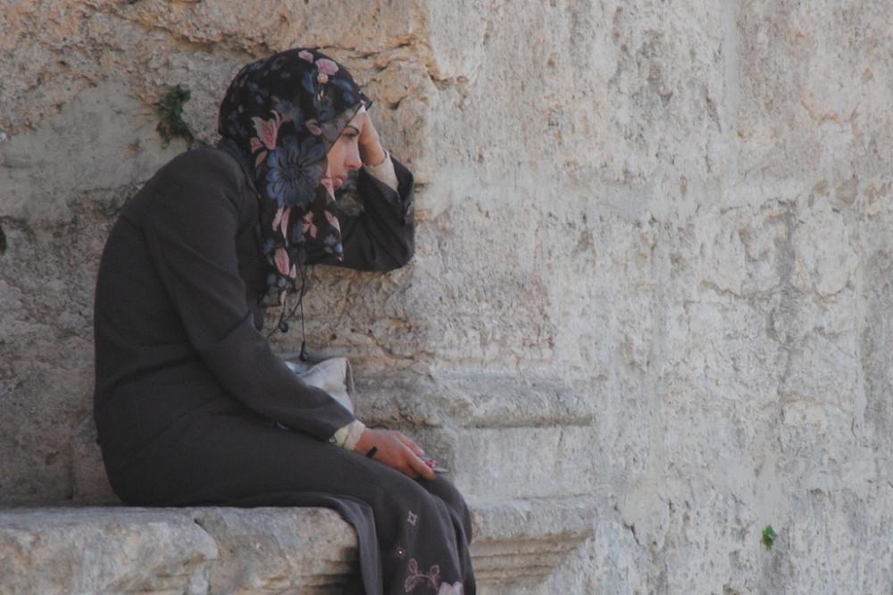 Woman in Veil in Amman Jordan