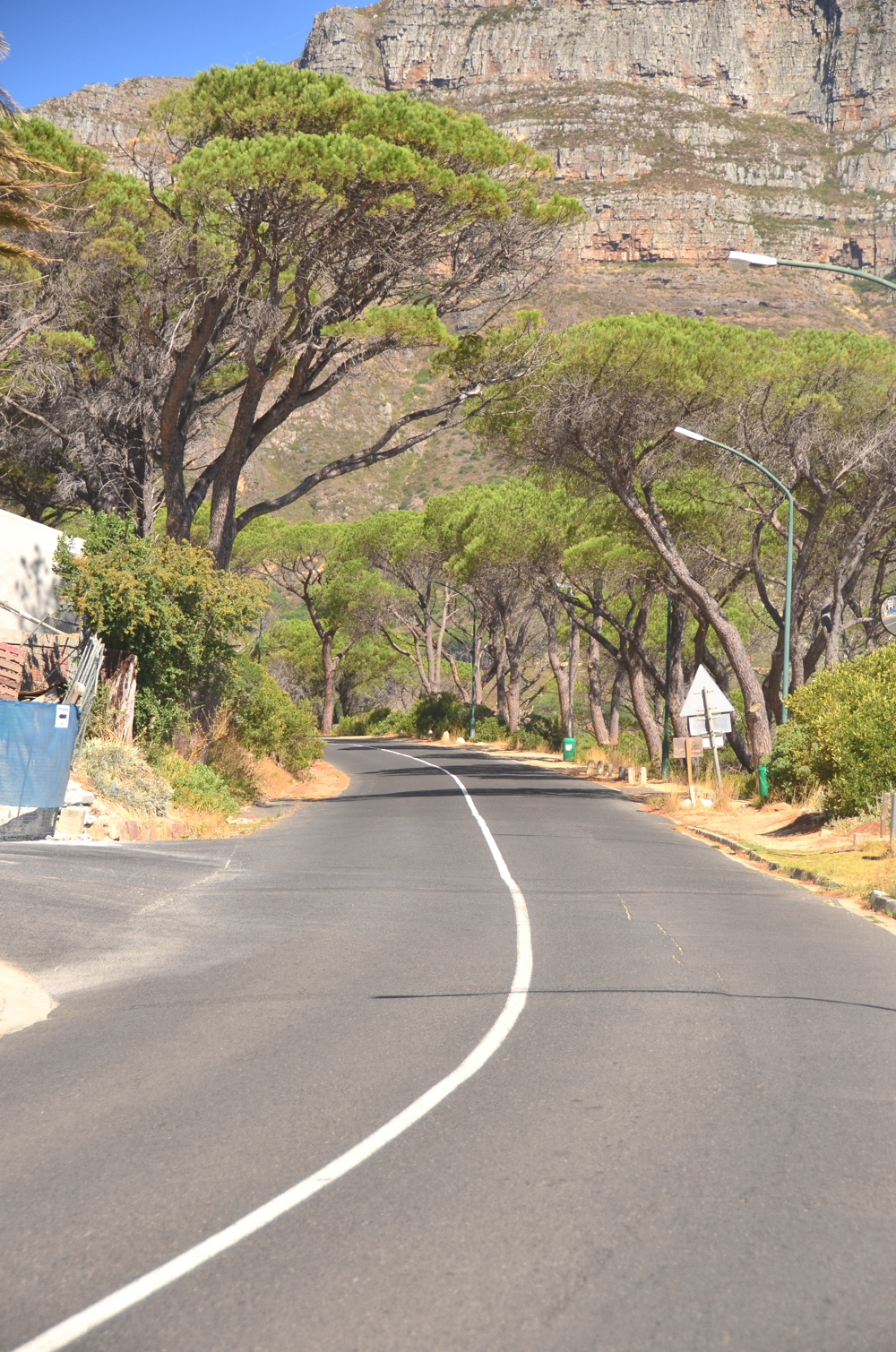 The steep road out of Camps Bay, toward Gardens