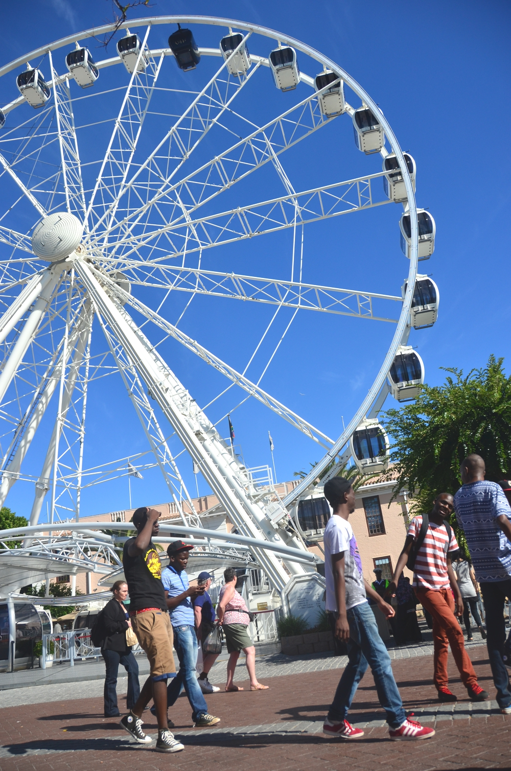 The V&A Waterfront is carefree and pleasant, in spite of how touristy it seems