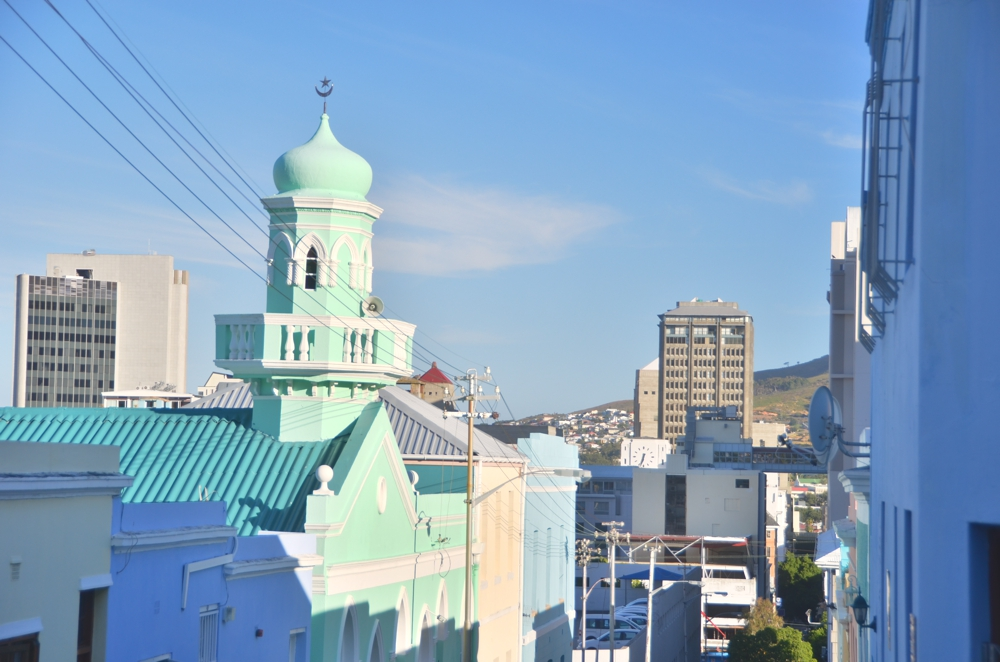 Bo Kaap's mosque is just as colorful as the rest of the township