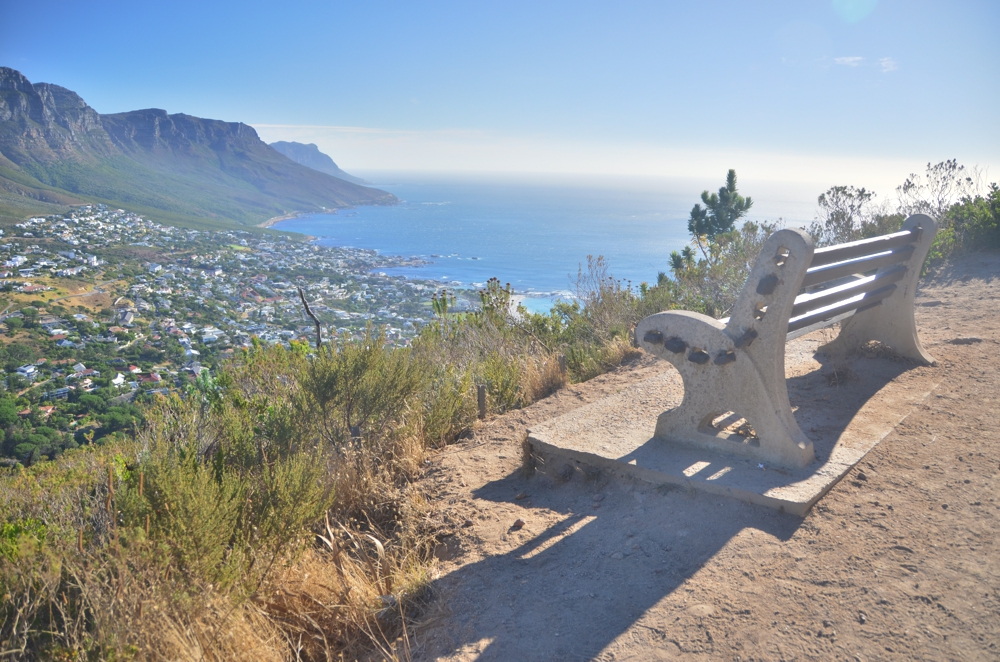 The view from about a third of the way up Lion's Head