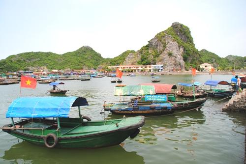 Cat Ba Island is an alternative gateway to the limestone karsts of Ha Long Bay