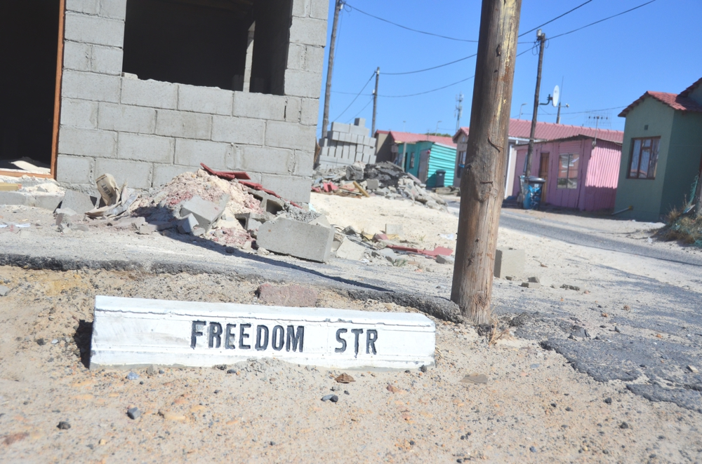 The ironically-named Freedom Street
