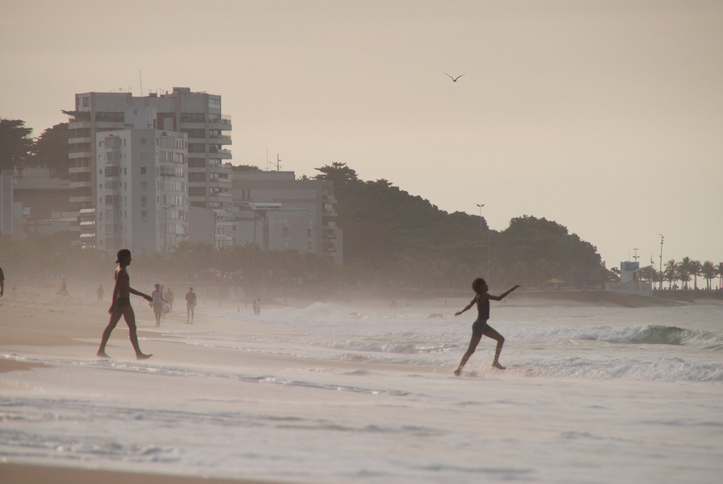 Greet the day on Ipanema Beach in Rio de Janeiro