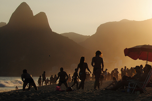 The crowds at Ipanema Beach in Rio are part of the experience
