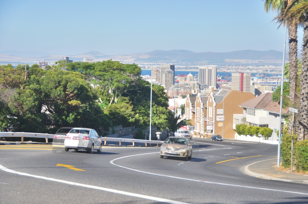 Looking down into Cape Town from the Gardens neighborhood evokes San Francisco