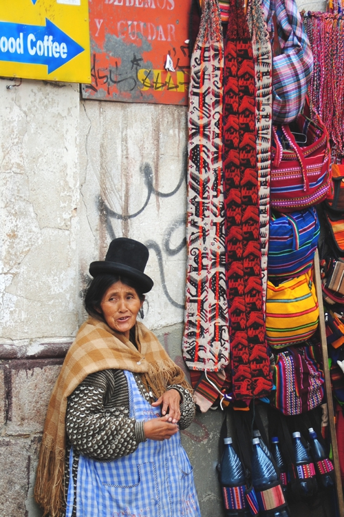 There's a reason indigenous people, such as this woman in La Paz, dress the way they do