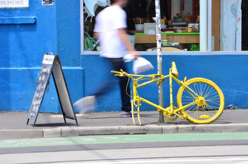 A street scene in Melbourne's hip Fitzroy neighborhood