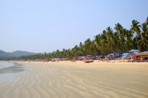 India's Palolem Beach is named for the forest of palm trees that lines the beach