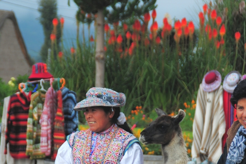 It's not a coincidence that jackets are for sale in Peru's Colca Valley