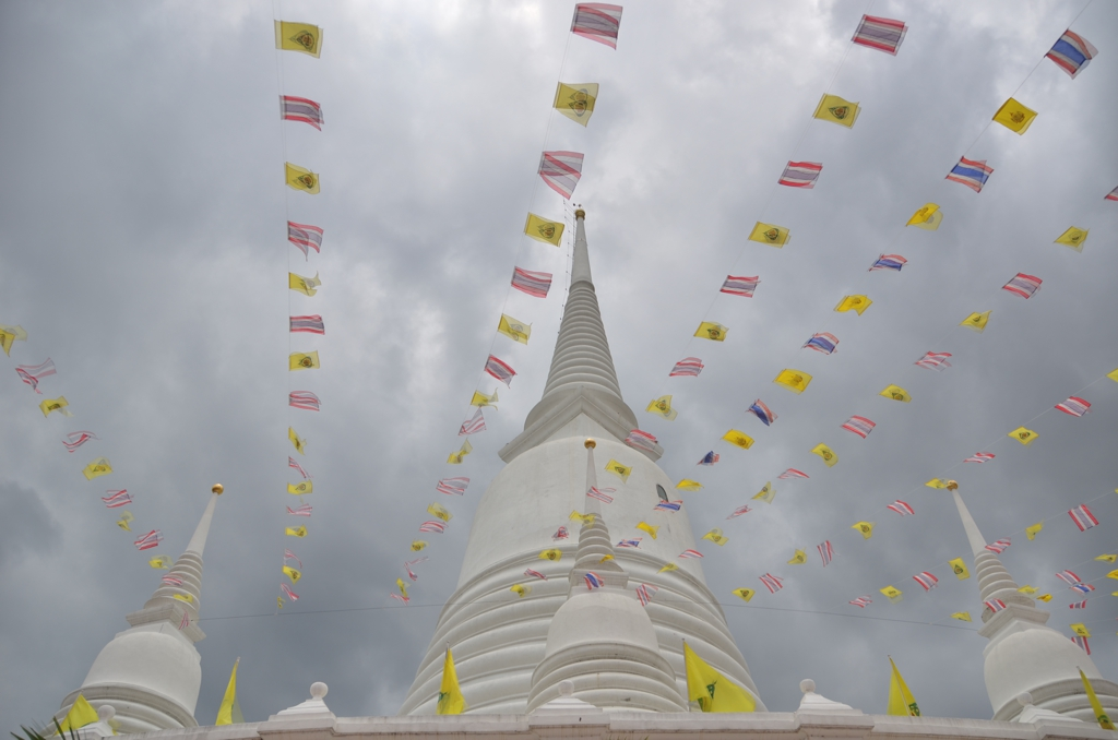 Wat Prayun under stormy, August skies