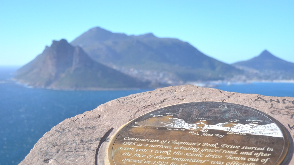 Coming back up the other side of the peninsula, stop at  Chapman's Peak for an awesome view of Hout Bay