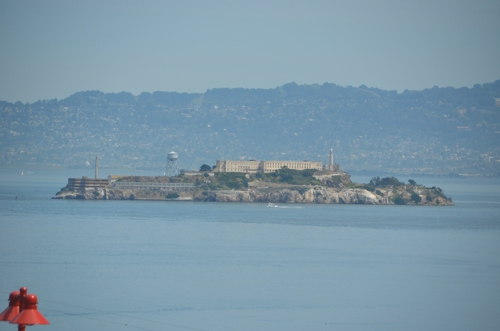 The Golden Gate Bridge provides great views of Alcatraz Island, home to the iconic prison of the same name
