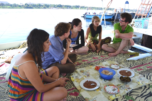 Lunch onboard the felucca is simple but delicious, not to mention relaxing