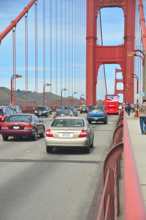 You can walk onto the Golden Gate Bridge, but be prepared to be shaken by the traffic!