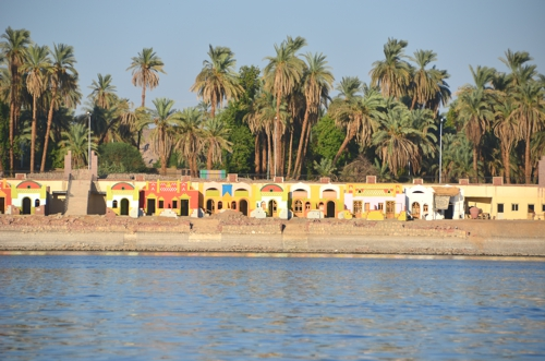 Some beaches along the southern Nile are home to traditional Nubian-style villages