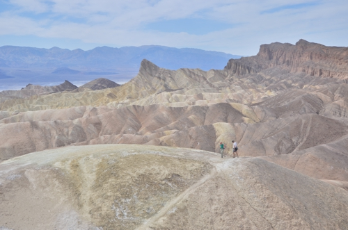 Zabriskie Point, the first place of interest along the route from Las Vegas to Death Valley