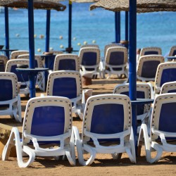 Beach Chairs in Sharm el Shiekh Egypt