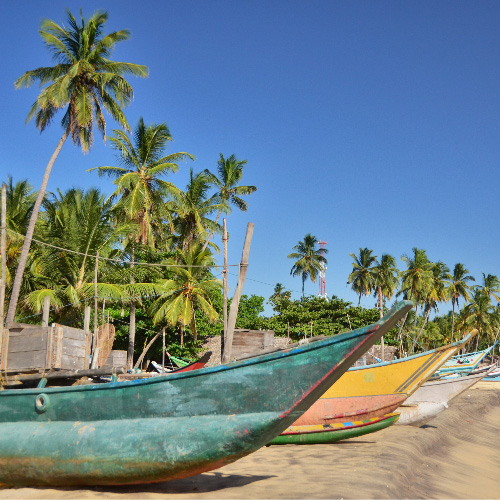 Boats in Arugam Bay