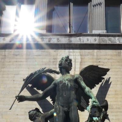 Angel statue in Brussels