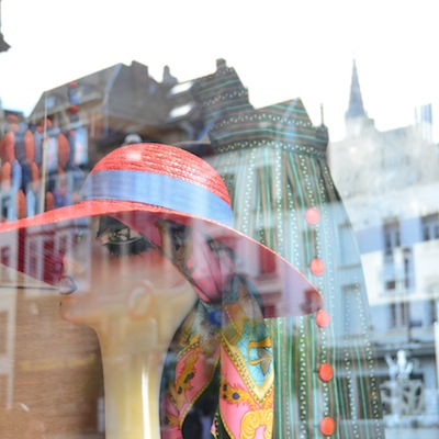 Reflection in a Brussels window