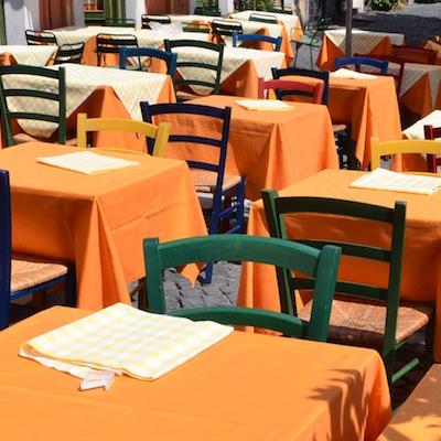 Dining at a Roman restaurant